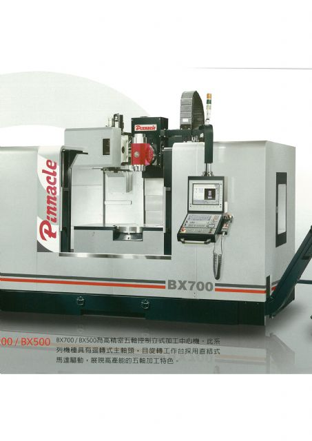 Pinnacle rolls out its first five-axis milling-turning combo, BX700T.