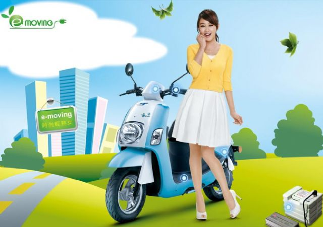 A popular e-scooter made by CMC, the No. 1 e-scooter vendor and exporter in Taiwan. (Source: CMC)