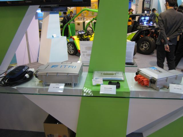 ITRI showcased a 50kW EV motor controller, the first such device developed and made in Taiwan (4945)