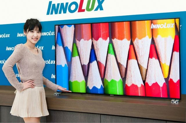 Innolux is focusing on high color gamut panels since its introduction of such products in Q4, 2014. (photo from UDN)