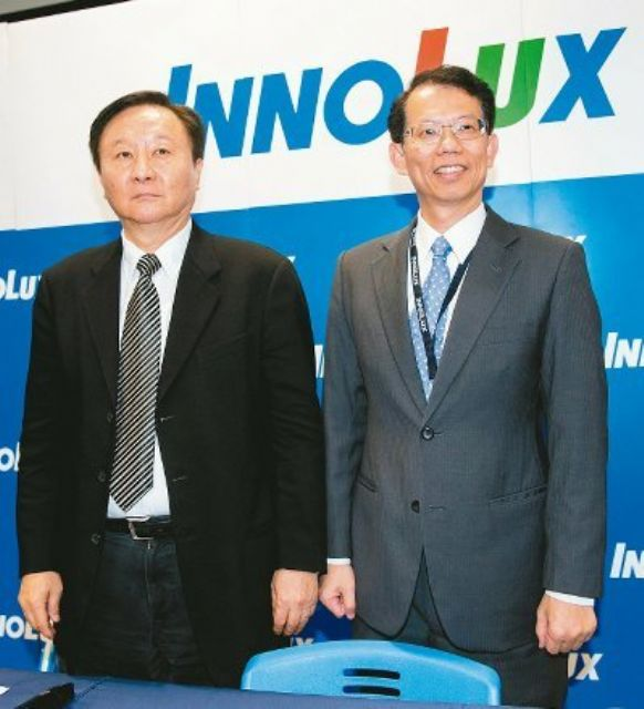 Innolux chairman Duan Xing-jian (left) and president J.C. Wang. (Photo from UDN)