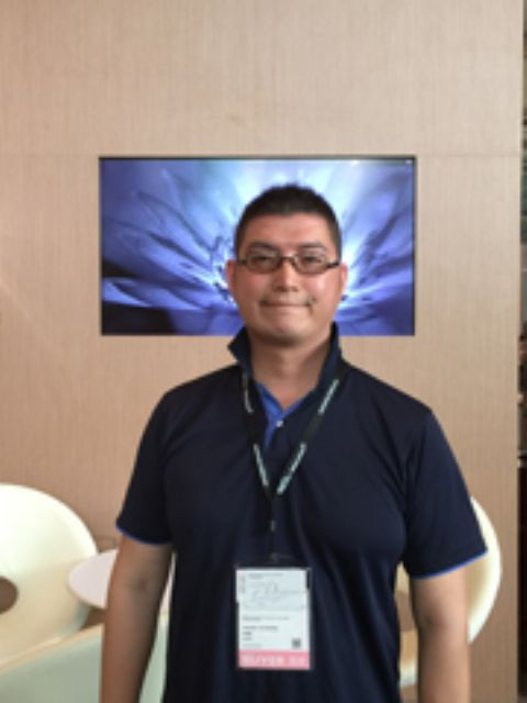 Dreamer Enterprise's purchasing manager, Michael Ciou, a first-time visitor, looks for LED lighting manufacturers with unorthodox products for its retail shops.