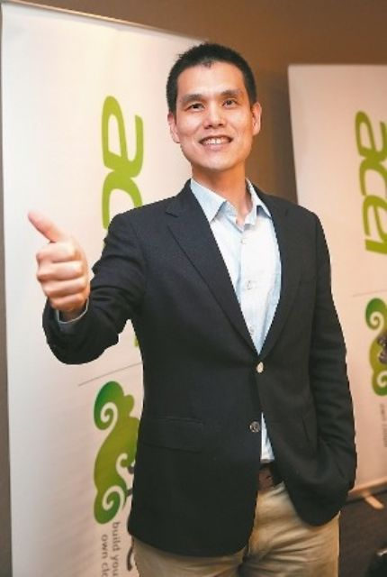 Maverick Shih, president of the BYOC Business Group at Acer. (photo from UDN)