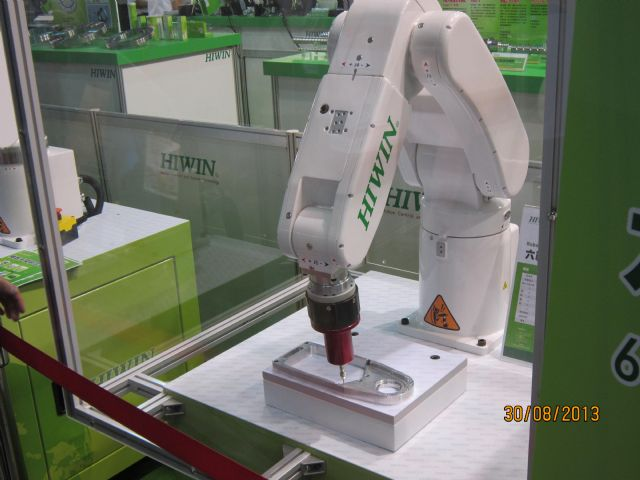 Robust orders for industrial robots prop up Hiwin's revenue.