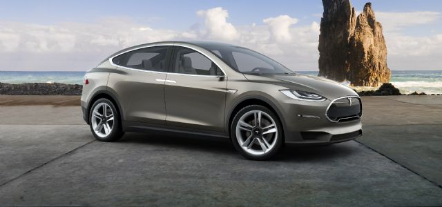 Tesla is scheduled to launch the Model X electric SUV in Q3, 2015. (photo from Tesla's website)