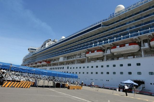 The Diamond Princess docked the first time at the Kaohsiung Port early-June.