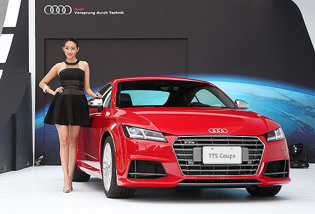 The new Audi TTS coupe just introduced in Taiwan. (photo of U-Car News)