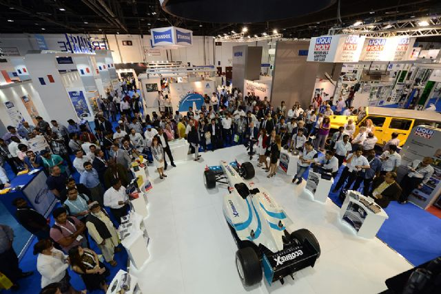 Automechanika Dubai 2015 recorded a new high of 30,835 people in visitor number for all time. (photo courtesy of Messe Frankfurt Middle East)