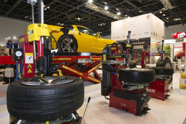 Auto maintenance and repair equipment emerged as one of the most popular exhibit categories at this year's show. (photo courtesy of Messe Frankfurt Middle East)