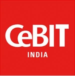 The logo of CeBIT India, a trade show inaugurated by Deutsche Messe in 2014 that proved to be a success.