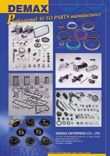 Demax supplies wide-ranging quality parts for cars, trucks, trailers, etc.