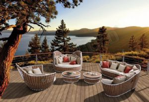 Deep seating sofas are widely used in outdoor spaces.