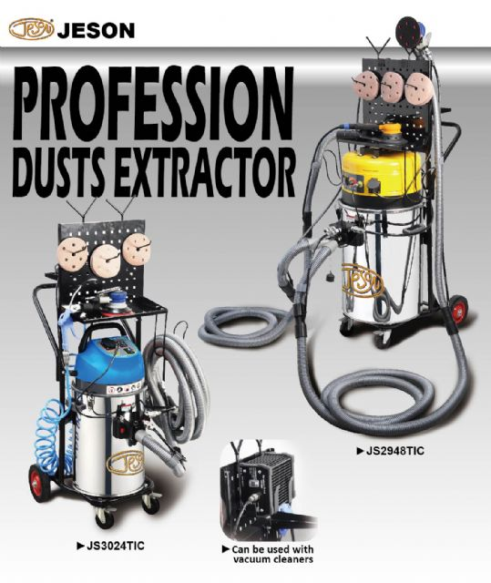 The firm's new JS3024TIC & JS2948TIC professional vacuum cleaner/dust extractors.