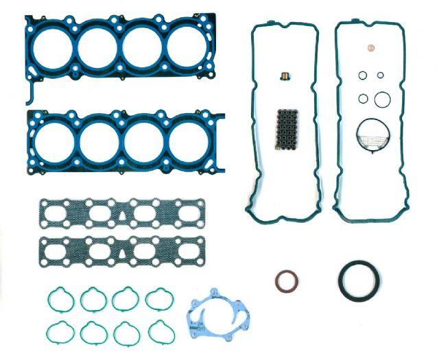 Full gasket set from Mega for Nissan engine VK56DE (OEM number: 10101-7S025).