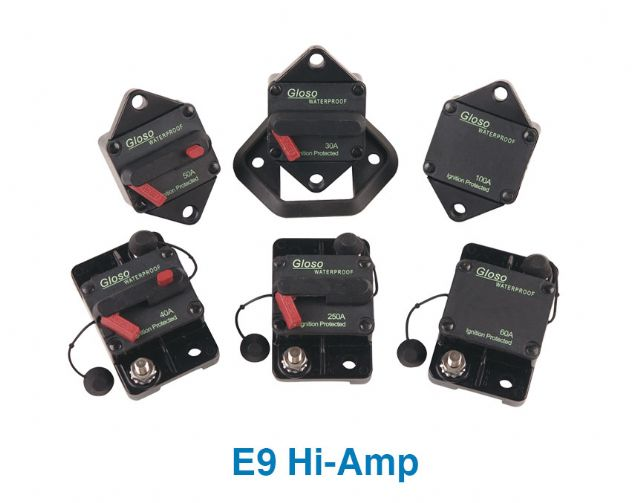 Samples of circuit breakers from Gloso Tech Inc.