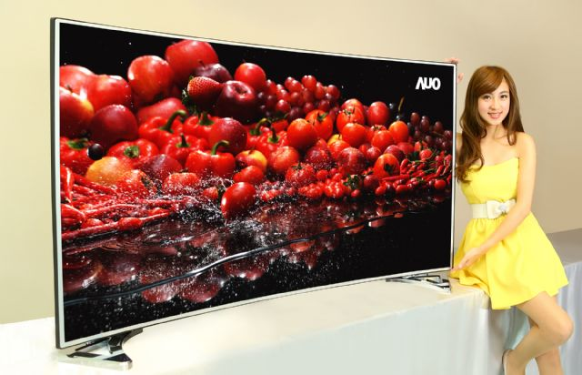A high-end, large-sized TV panel made by a Taiwanese TFT-LCD maker. (photo from AUO)