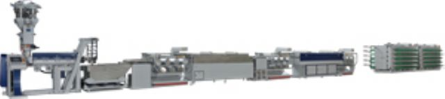 The JC-STP strapping band extrusion line from Jenn Chong