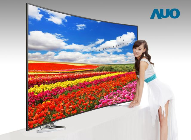 AUO's ALCD TV displays with 3M Quantum Dot Enhancement Film exceed NTSC's color saturation standard. (photo from AUO)
