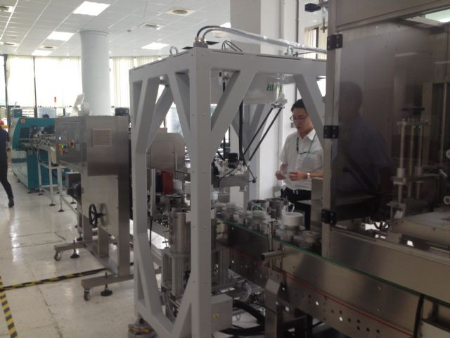 Benison showcases its tape packaging line integrated with Hiwin's Delta robot at its annual technology exchange conference held in mid-August in Taichung.