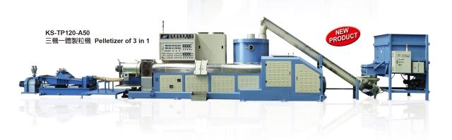 De-watering and pelletizing machine developed by Kun Sheng.