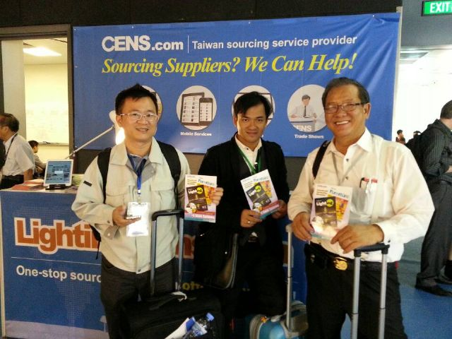 """CENS' publications, including """"Taiwan Lighting,"""" are proven sought-after among foreign buyers at the show."""