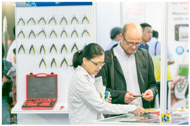 Hand tools continue to be the most popular product category to foreign buyers and visitors at THS (photo courtesy of Kaigo Co., Ltd.).