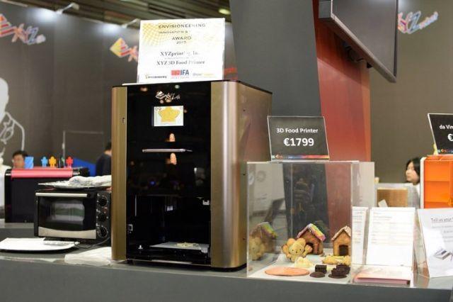 XYZPrinting's 3D food printer.
