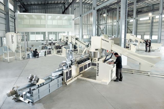 Polystar's plastic-recycling machines are assembled and tested in-house to strict quality standards.