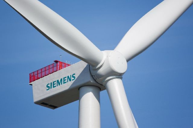 Siemens' SWT-4.0-120 G4 platform wind turbines each  supplies 4 megawatts for the Formosa Phase 1 offshore wind farm. (photo from Siemens Taiwan)