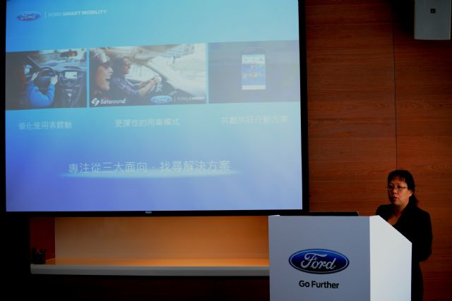 Ford Lio Ho announces to tie up with the CSIE of NTU in joint development of V2V VLC technology. (photo from Ford Lio Ho)
