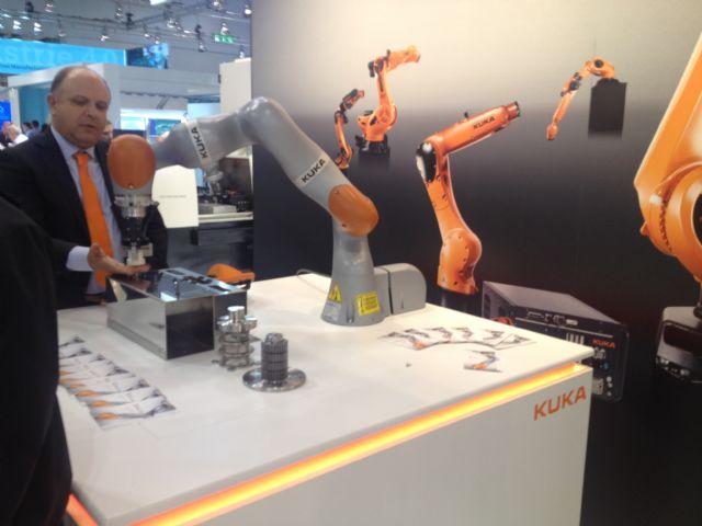 Kuka's LBR (lightweight intelligent robot) iiWA opens a new era in sensitive robotics.