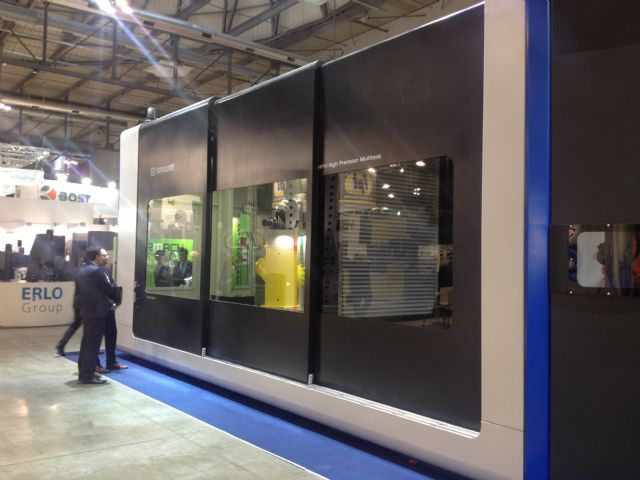 High visibility and accessibility to large work area is common  feature of large-sized machining centers.