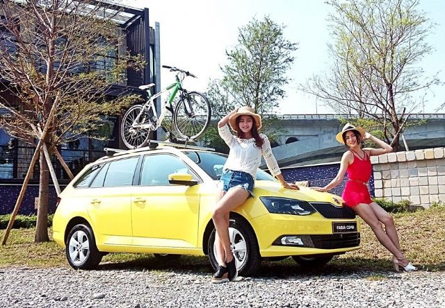 Skoda Taiwan's recently introduced new Skoda Fabia Combi wagon, a very popular model globally, to try to further elevate sales volume on the island. (photo from UDN)