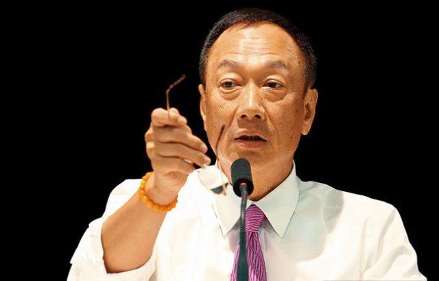 Hon Hai's chairman Terry Gou. (photo from UDN)