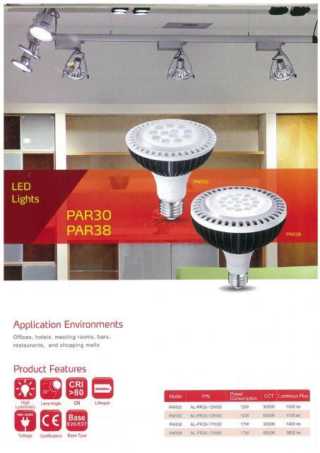 PAR30 and PAR38 are among Adata's high CRI LED commercial lights.