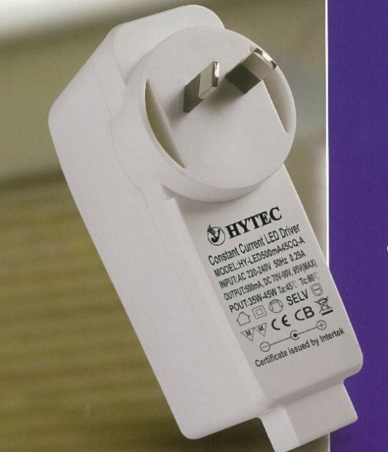 Plug-in LED dimmer/driver combo from HYTEC.