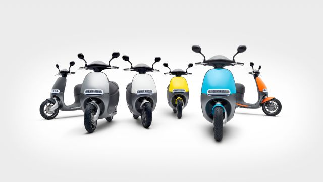 Licensing of 680 units of the Gogoro Smartscooter in October makes the new brand the No. 1 e-scooter vendor with about 55 percent market share in the segement. (photo from Gogoro)