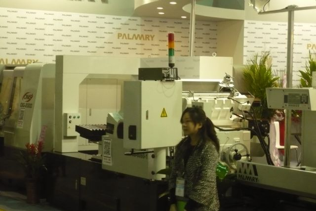 Worst post-2008 shipment recession hits Taiwan's machine tool industry. (picture shows an exhibitor at a trade fair in Taipei)