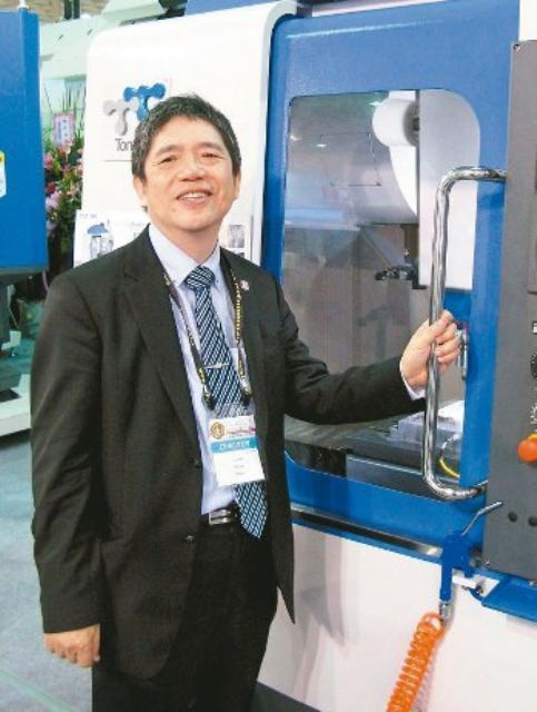 Tongtai continues to build sales of aircraft-making machine tools. (Pictured is group chairman, R.X. Yen)