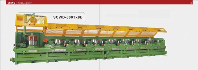 Cheng I Wire's straight-line wire-drawing machine.
