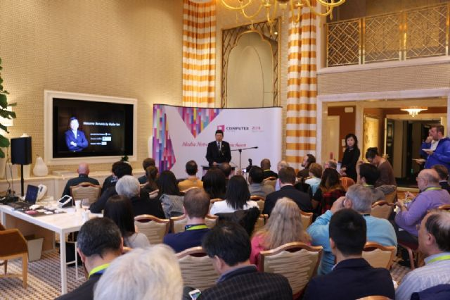 TAITRA held an international pre-show press conference during this year's CES in Las Vegas, the U.S.