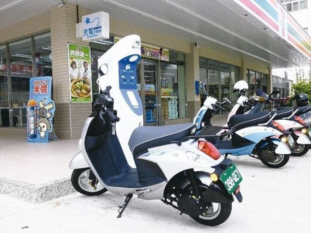 Governmental promotion is helping an increasing number of e-scooter charging or battery-swapping stations to be installed in Taiwan.