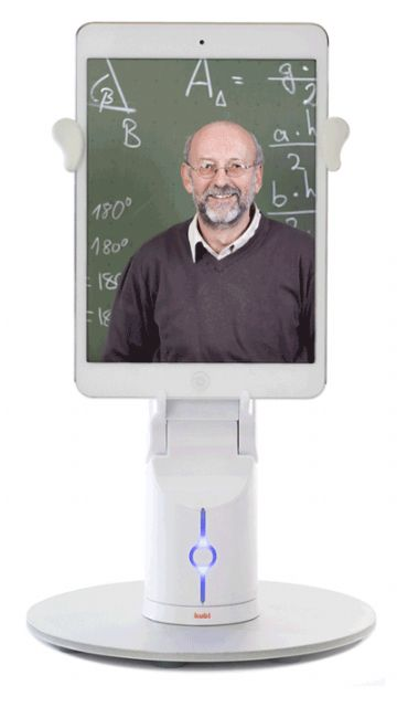 Kubi, a simple, engaging telepresence robot for tablet PCs. (photo from Revolve Robotics)
