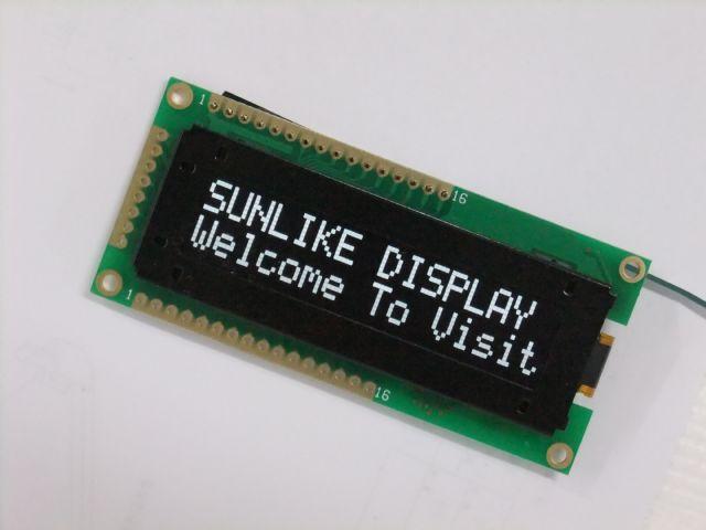 Sunlike's AL series OLED character display.