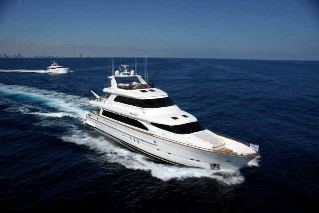 Global market demand for luxury yachts (with length exceeding  80 feet) has gradually risen over the last few years (photo courtesy of Horizon Yachts).