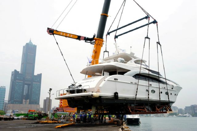 Taiwan is the globally fourth-largest yacht building country in the 2016 global top-10 rankings issued by Boat International Media (photo courtesy of Kaohsiung City Hall).