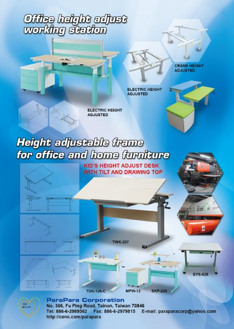 User-friendly functions, ergonomic, minimalistic exterior and eye-catching chromatic design are attractions of ParaPara's height-adjustable desks and workstations.
