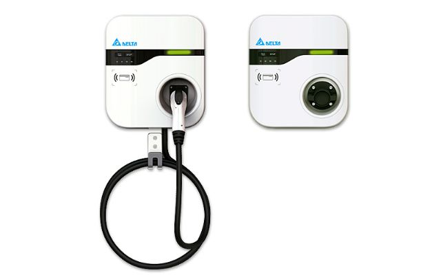 Delta's EV AC Charger is designed for smart EV charging at home to enable remote control and monitoring of recharging. (photo from Delta)