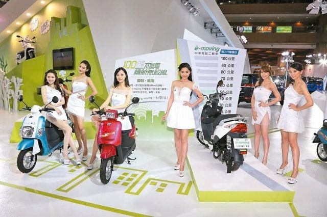 CMC's e-moving e-scooter line-up again put the vendor in No. 1 in 2015 e-scooter sales in Taiwan. (photo from UDN)