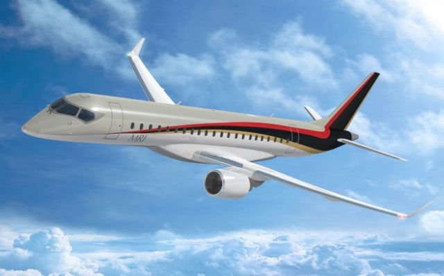 MRJ, a brand-new regional jet with key parts supplied by Taiwan's AIDC, an ODM from the project outset. (photo from Mitsubishi Aircraft)